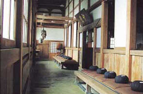 A mood of silent dignity pervades the Zen Hall.