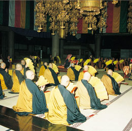 Regularly conducted prayers at the Sojiji
