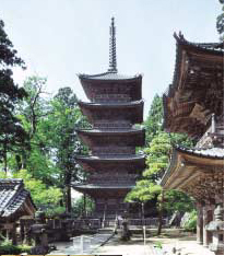 The five-level pagoda was built to commemorate all the fishes of the sea.